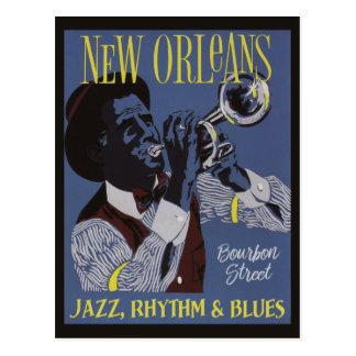 Postal de la música de New Orleans