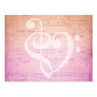 Postal de la música del amor postal