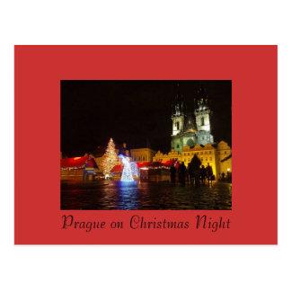 Postal de la noche de navidad de Praga