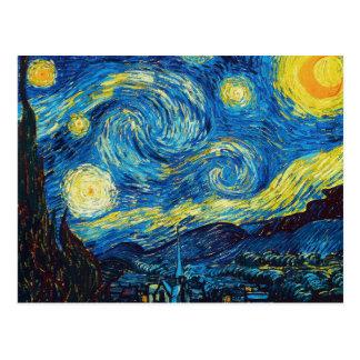 Postal de la noche estrellada de Van Gogh