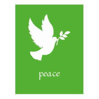 Postal de la paloma de la paz