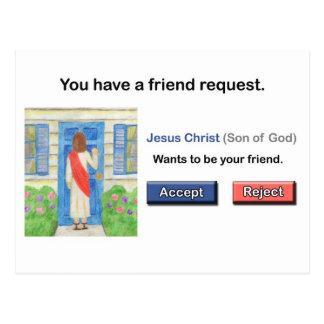 Postal de la petición del amigo de Jesús