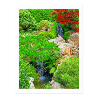 Postal de la pintura de la foto de las cascadas de