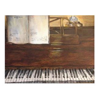 Postal de la pintura del piano por