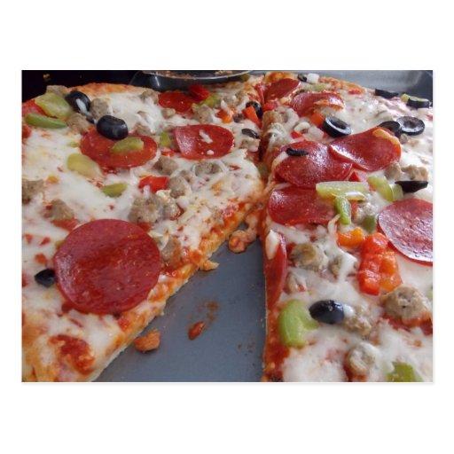 Postal de la pizza