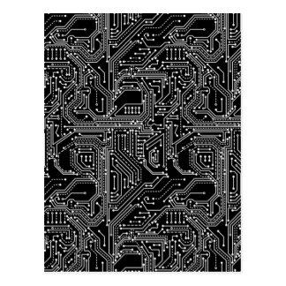 Postal de la placa de circuito del ordenador