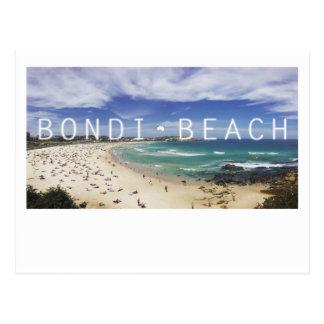 Postal de la playa de Australia Bondi