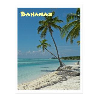 Postal de la playa de Bahamas