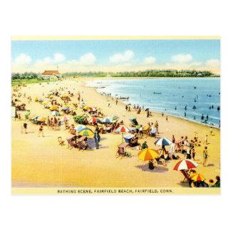 Postal de la playa de Connecticut de la