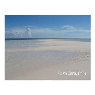 Postal de la playa de Cuba de los Cocos de Cayo