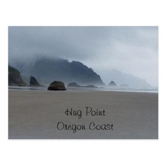 Postal de la playa de la costa de Oregon del punto