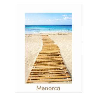 Postal de la playa de Menorca Santo Tomas