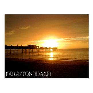 Postal de la playa de Paignton