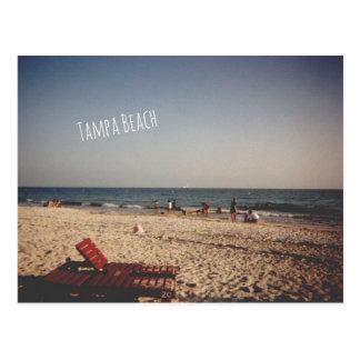 Postal de la playa de Tampa del vintage