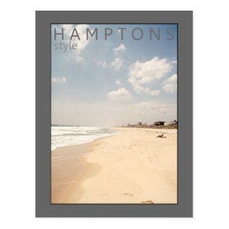 Postal de la playa del estilo de Hamptons