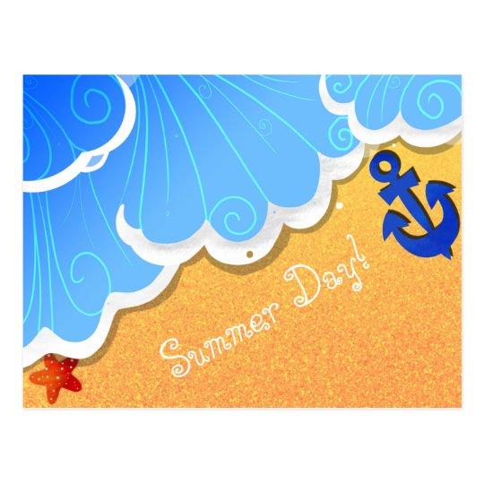 Postal de la playa del verano