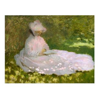 Postal de la primavera de Monet