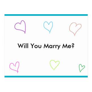 Postal de la propuesta de matrimonio