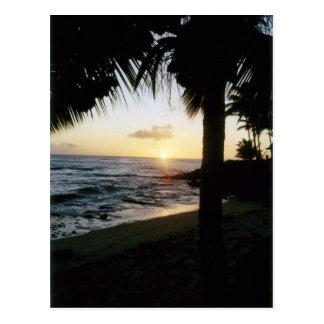 Postal de la puesta del sol de la playa de St