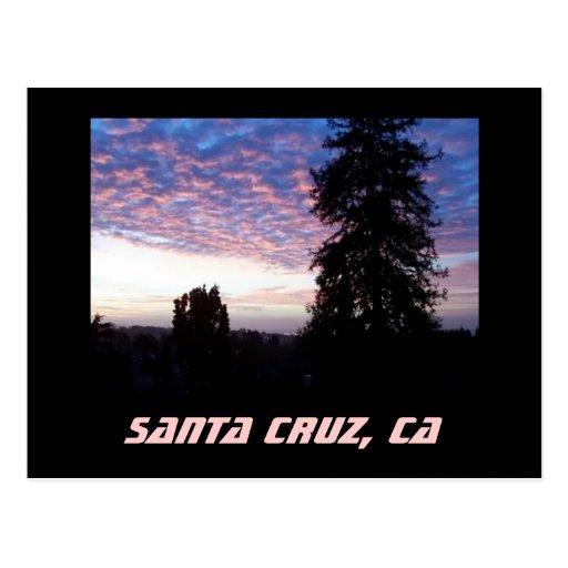 Postal de la puesta del sol de Santa Cruz