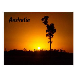 Postal de la puesta del sol del australiano