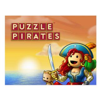 Postal de la puesta del sol del pirata