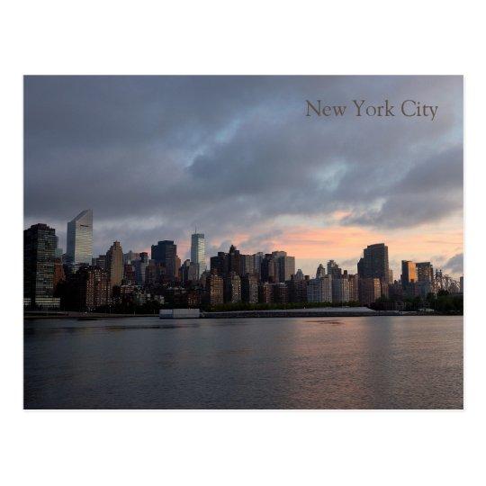Postal de la puesta del sol NYC