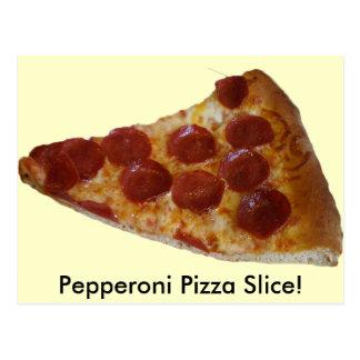Postal de la rebanada de la pizza de salchichones