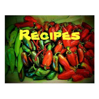 Postal de la receta (chiles)