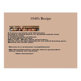 Postal de la receta de la crepe de patata del