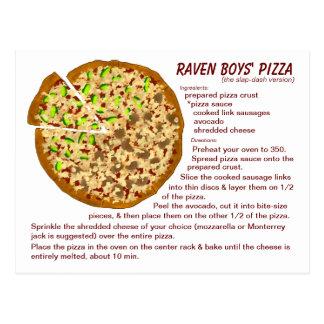 Postal de la receta de la pizza de los muchachos d
