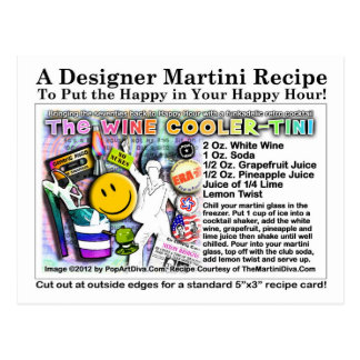 postal de la receta del Refrigerador-Tini del vino