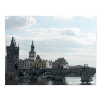 Postal de la República Checa de Praga del puente