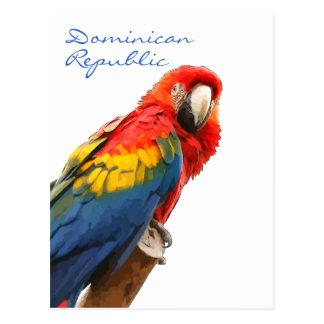 Postal de la República Dominicana del Macaw del