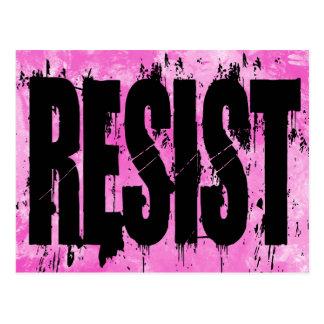 Postal de la resistencia del estilo del Grunge