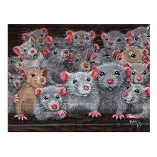 Postal de la reunión 2 de Rattie de las ratas