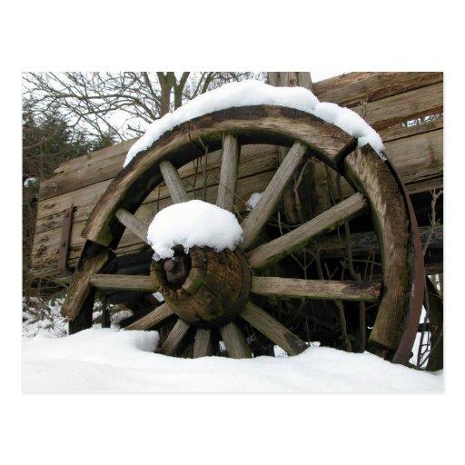 postal de la rueda de carro