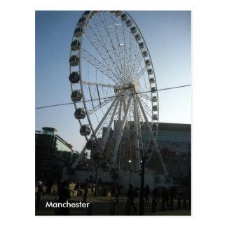 Postal de la rueda de Manchester