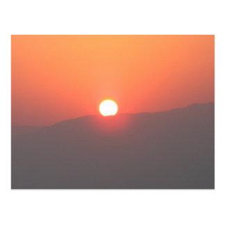 Postal de la salida del sol de Israel Masada -