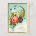 Postal de la tarjeta de Navidad del Victorian