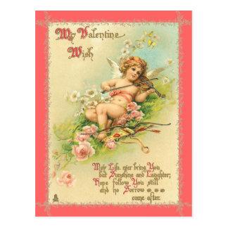 Postal de la tarjeta del día de San Valentín del