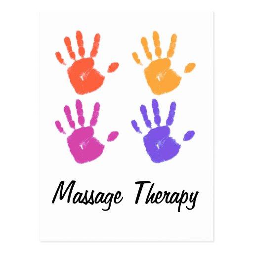 Postal de la terapia del masaje