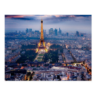 Postal de la torre Eiffel