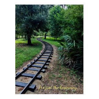 Postal de la trayectoria del ferrocarril