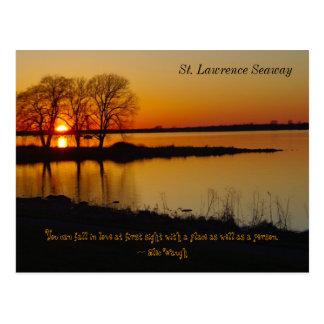 Postal de la vía marítima del St. Lorenzo en la