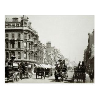 Postal De la visión calle de Oxford abajo, Londres (foto