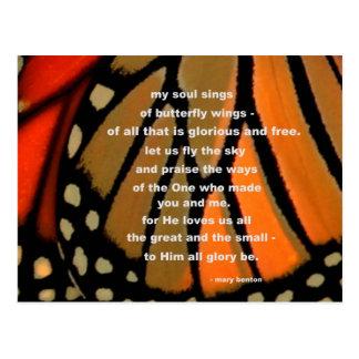 Postal De las alas de la mariposa