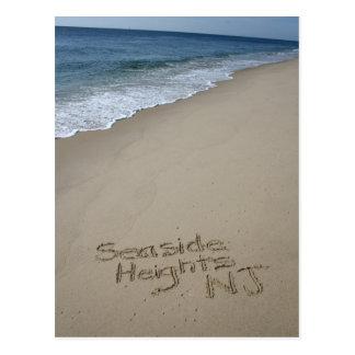 Postal de las alturas de la playa de la orilla del