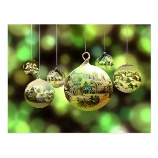 Postal de las bolas del navidad