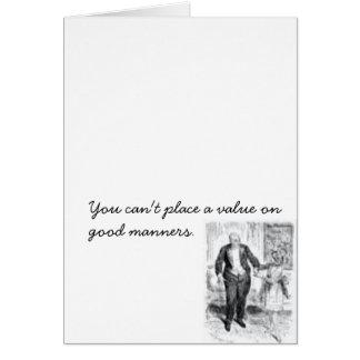 Postal de las buenas maneras tarjeta de felicitación
